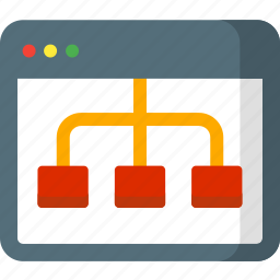 map, page, seo, sitemap, web, website icon