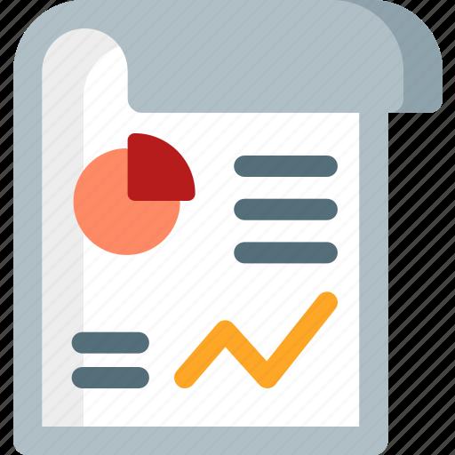 analytics, data, diagram, graph, infographics, paper, statistics icon