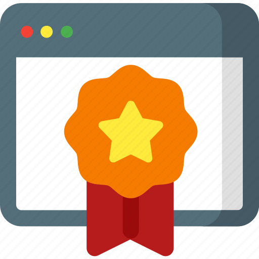 award, internet, medal, network, page, prize, seo icon