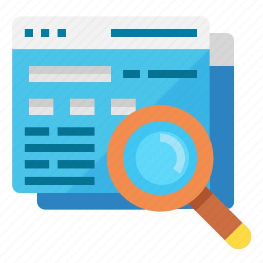glass, magnifier, search, seo, website icon
