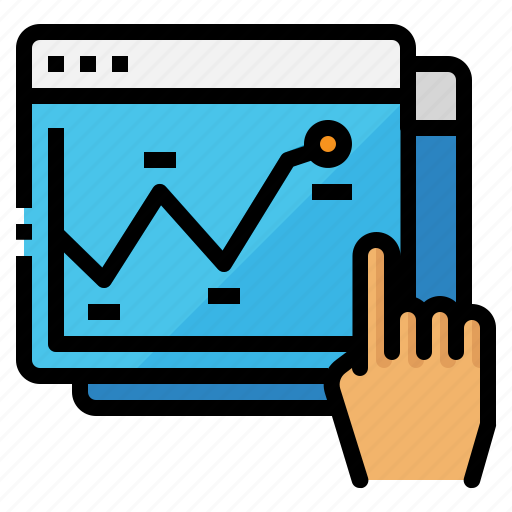 analysis, chart, seo, strategy, website icon