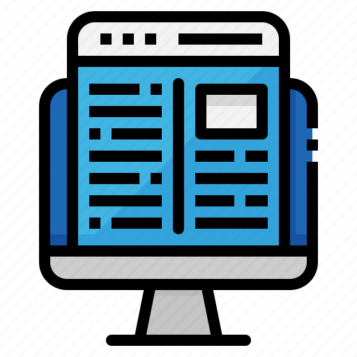 browser, computer, layout, monitor, website icon