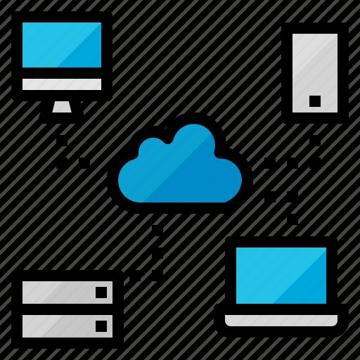 cloud, data, internet, network, server icon