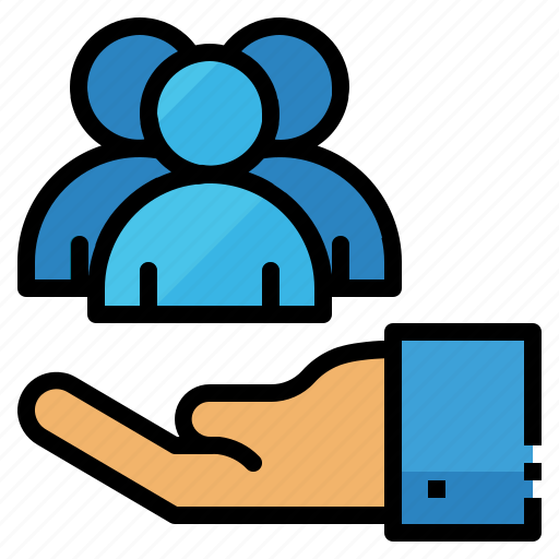 care, customer, hand, service, support icon