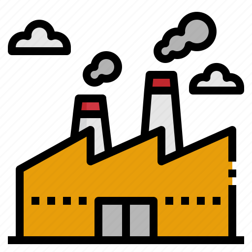 building, factory, industry, landscape, production icon