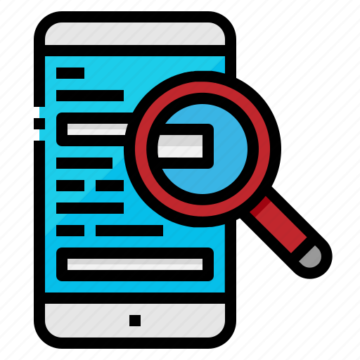 mobile, phone, search, smart, zoom icon