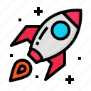 launch, rocket, spaceship, start, up icon