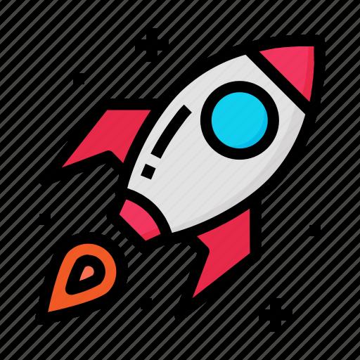launch, rocket, spaceship, start, up icon