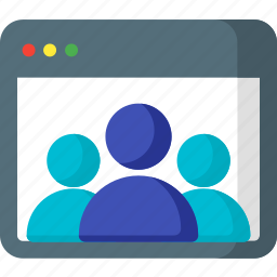 communication, group, network, seo, social, team, users icon