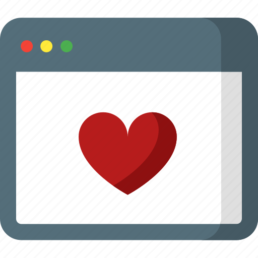 bookmark, favorite, heart, like, love, page, web icon