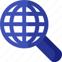 find, global, magnifier, magnifying, search, seo, web icon