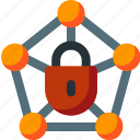 connection, lock, network, password, private, secure, security icon
