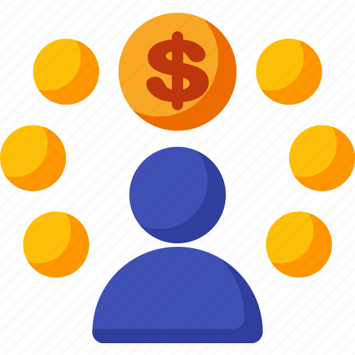 affiliate, coin, finance, marketing, money, payment, seo icon