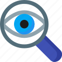 eye, magnifying, optimization, search, seo, spy, zoom icon