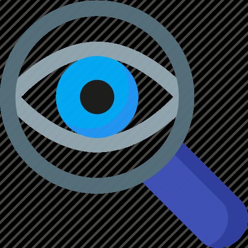 eye, magnifying, optimization, search, seo, spy, zoom icon