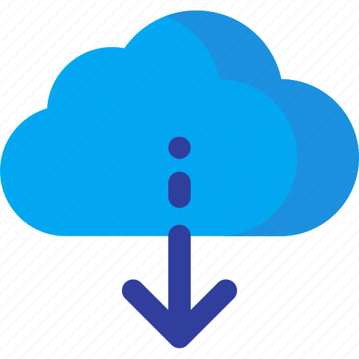 cloud, computing, data, download, network, server, storage icon