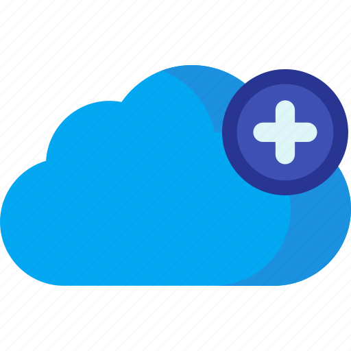 add, cloud, computing, data, new, plus, storage icon