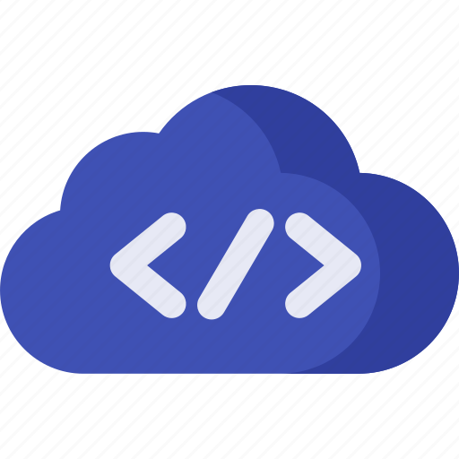 cloud, code, computing, data, database, server, storage icon