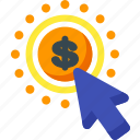 click, finance, money, pay, payment, payperclick, per icon