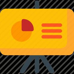 board, chart, report, seo, services, statistics, training icon