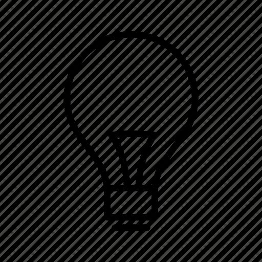 bulb, idea, power icon