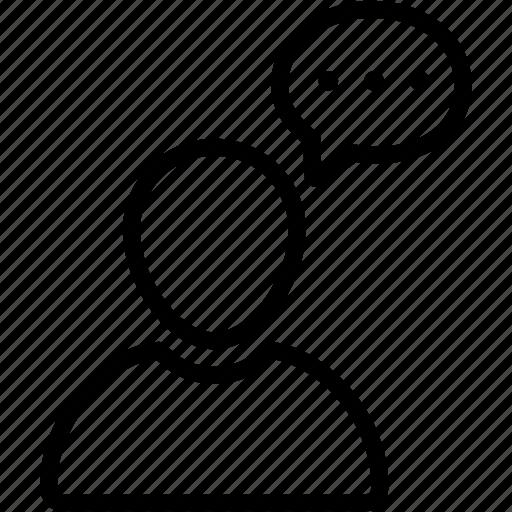 bubble, chat, comment, person, profile, talk, user icon
