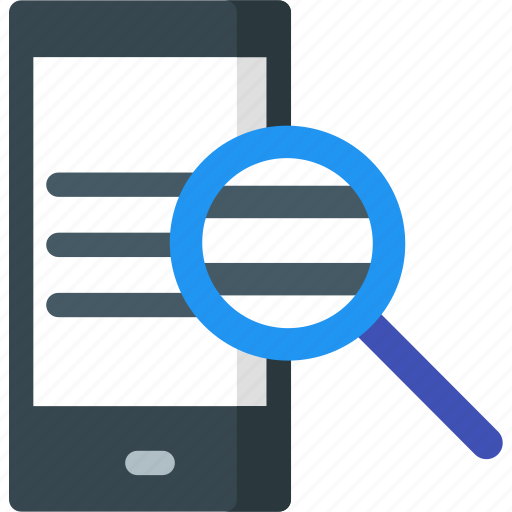 device, find, magnifier, mobile, phone, search, seo icon