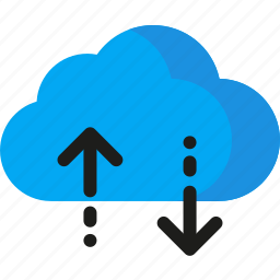 arrow, cloud, download, network, storage, transfer, upload icon