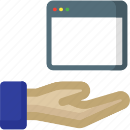document, file, hand, seo, share, sharing, web icon