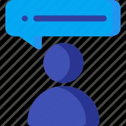 bubble, customer, speech, support, testimonial, user, users icon