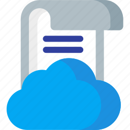 cloud, data, internet, network, online, paper, storage icon