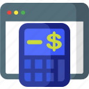 accounting, budget, calc, calculator, device, mathematics icon