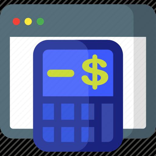 accounting, budget, calc, calculator, device, mathematics icon