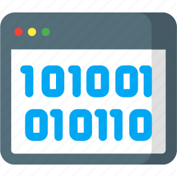 code, data, database, info, information, page, web icon