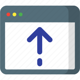 arrow, arrows, direction, page, up, upload, web icon