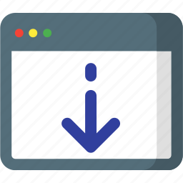 down, download, online, page, seo, web, website icon
