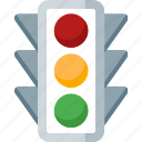 automobile, car, road, signal, traffic, transport, transportation icon