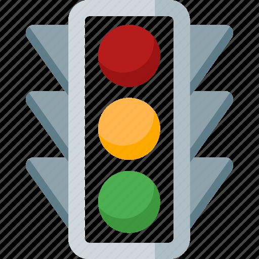 Traffic, automobile, car, road, signal, transport, transportation icon - Download on Iconfinder