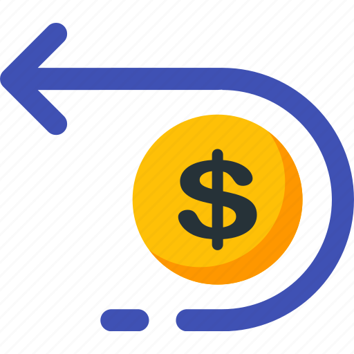 cash, coin, dollar, financial, investment, payment, return icon