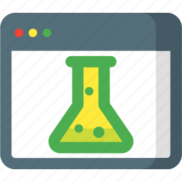browser, glass, lab, research, search, seo, web icon
