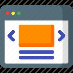 design, header, page, show, slide, swipe, web icon
