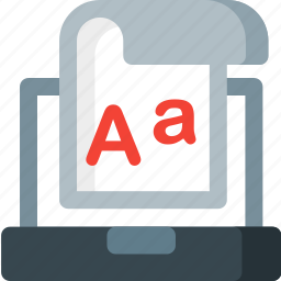 file, format, paper, text, type, typography, write icon