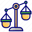 balance scale, business, conversion, finance, measurement, weight icon