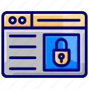 interface, lock, protection, secure search, security, website icon