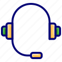 headphone, headset, music, songs, support icon