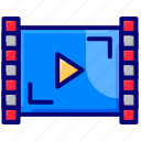 music, play, video, video player, video search icon