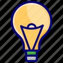 bulb, idea, light, quiz, solution