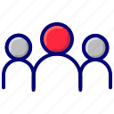 people, profile, team, user group icon
