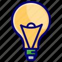 bulb, idea, light, quiz, solution icon