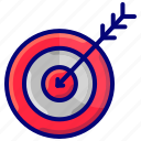 aim, focus, goal, strategy, target icon